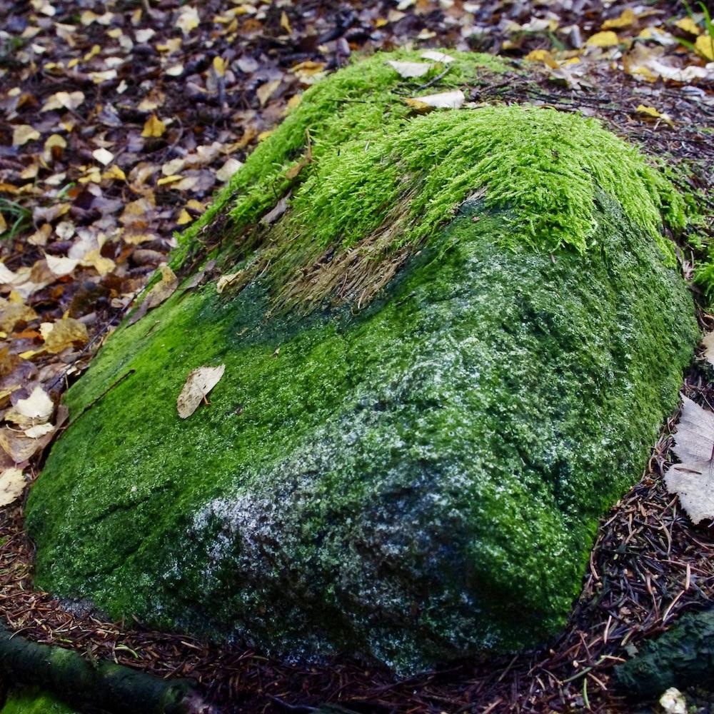 En grön sten
