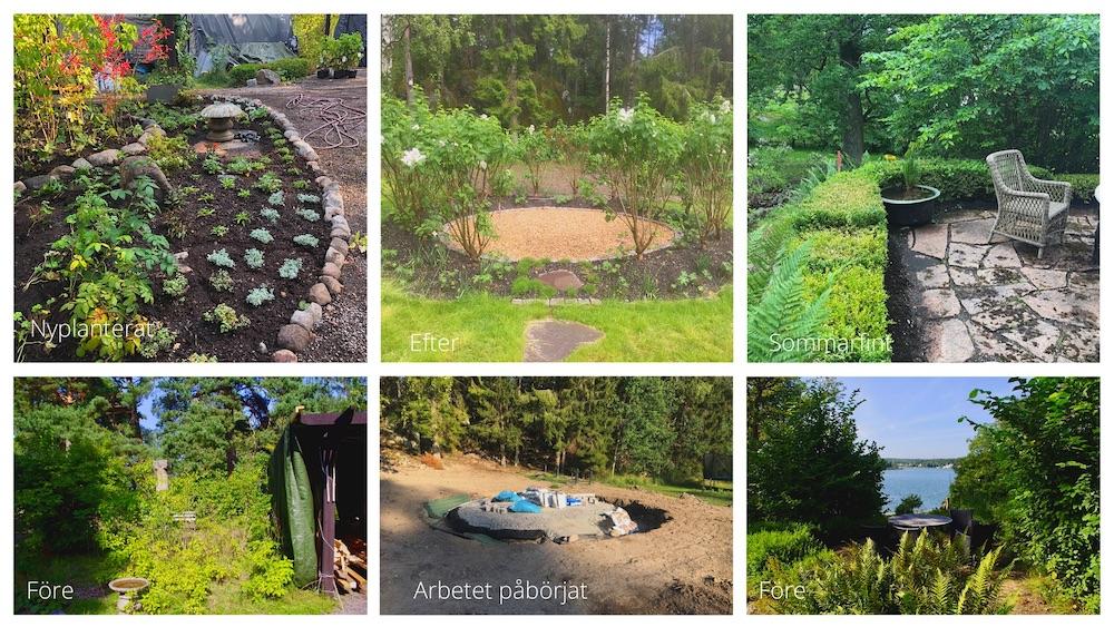 Några före och efter bilder från tidigare projekt